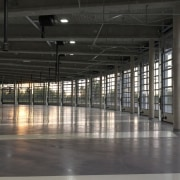 569 firestation airport terminal, daylighting, factory, floor, structure, warehouse, black, gray