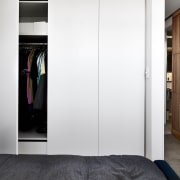 Wardrobes and other storage areas have been cleverly closet, door, furniture, room, wardrobe, white