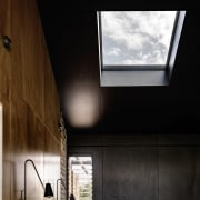 A skylight above the bed is the perfect architecture, ceiling, daylighting, home, house, interior design, window, black