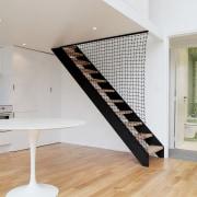 Architect: jbmn architectesPhotographer: Hermann Wendler floor, flooring, interior design, product design, wood, gray, white