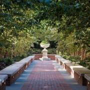 Jon Bon Jovi's new apartment in NYC – backyard, botanical garden, estate, garden, landscape, landscaping, outdoor structure, plant, tree, walkway, brown