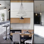 Picking a floor material for your kitchen doesn't cabinetry, countertop, furniture, interior design, interior designer, kitchen, product design, gray, white