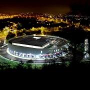 569 firestation arena, atmosphere, metropolis, night, sport venue, stadium, structure, black