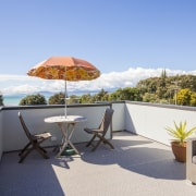 Graham Phipps-Black – Ruby Bay, Nelson house apartment, estate, home, house, outdoor furniture, outdoor structure, property, real estate, resort, roof, vacation, villa, teal