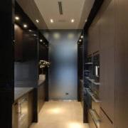 Source: Trulia ceiling, countertop, floor, interior design, kitchen, light fixture, lighting, lobby, room, black, brown