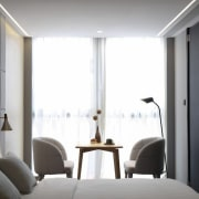 Hotel Ease Access architecture, ceiling, interior design, room, window, gray, white