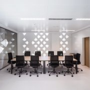 Palace of Justice building | Mecanoo + Ayesa ceiling, conference hall, furniture, interior design, office, product design, table, wall, gray, white