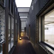 The 925 Building architecture, building, condominium, daylighting, interior design, black, white