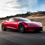 Tesla's new Roadster automotive design, car, computer wallpaper, concept car, family car, land vehicle, luxury vehicle, mid size car, motor vehicle, muscle car, performance car, personal luxury car, race car, sports car, supercar, vehicle, white, black