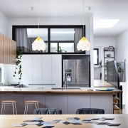This kitchen is certainly the heart of the furniture, interior design, kitchen, living room, white
