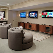 The perfect man cave furniture, interior design, living room, room, gray