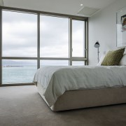 Match your carpet to your lifestyle. architecture, bed, bed frame, bedroom, daylighting, door, floor, home, house, interior design, property, real estate, room, window, window covering, gray