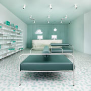 Sergio Mannino Studio designed this pharmacy to be architecture, floor, furniture, interior design, product design, gray, white