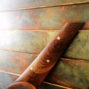One of the unique finishes cold weapon, weapon, wood, wood stain, brown
