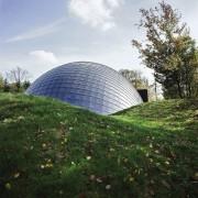 Forestry Branch – Marche-en-Famenne architecture, biome, building, dome, grass, sky, tree, white, green