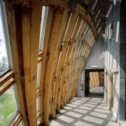 Forestry Branch – Marche-en-Famenne architecture, facade, structure, wood, brown