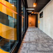 The Tervahovi Silos / PAVE Architects architecture, floor, flooring, interior design, lobby, gray, black
