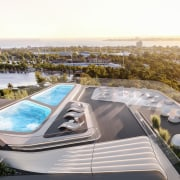 Mayfair Residential Tower – Zaha Hadid Architects architecture, building, condominium, mixed use, property, real estate, white
