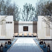 Vanke Park Mansion 'True Love' – FLOscape Landscape architecture, building, house, property, real estate, white