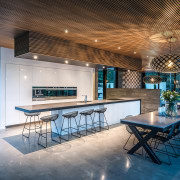This modern kitchen by Hagley Kitchens includes a architecture, ceiling, estate, house, interior design, lobby, real estate, table, gray