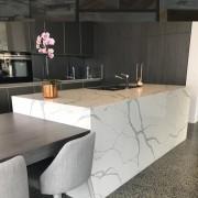 Smartstone countertop, floor, flooring, furniture, granite, interior design, kitchen, product design, table, tile, wall, gray, black
