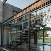Colima home/Di Frenna Arquitectos architecture, building, condominium, facade, glass, house, gray, black