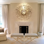 An elegant living room is lifted further thanks ceiling, coffee table, floor, flooring, furniture, home, interior design, living room, room, table, wall, gray, orange