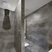 Collins W Collins architecture, bathroom, concrete, daylighting, floor, flooring, interior design, tile, wall, gray