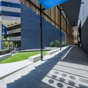 Channel 9 Headquarters – Cox Howlett & Bailey architecture, asphalt, building, corporate headquarters, daylighting, daytime, facade, headquarters, house, line, real estate, reflection, residential area, sky, structure, blue