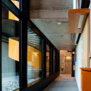 The Tervahovi Silos / PAVE Architects architecture, ceiling, glass, house, interior design, lobby, black, gray