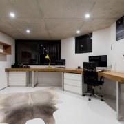 The home office floor, interior design, gray