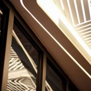 Hotel Ease Access angle, architecture, daylighting, light, line, structure, black, brown