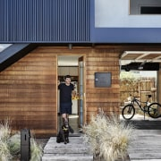 Architect: Liam WallisPhotography by Tess Kelly facade, home, house, residential area, gray