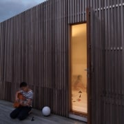 Don't let the outside appearance fool you – architecture, building, facade, home, house, wall, wood, black