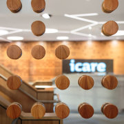 icare – dwp | design worldwide partnership flooring, font, hardwood, material, product design, table, wood, wood stain, gray, brown