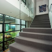 Registered Master Builders – House of the Year apartment, architecture, condominium, daylighting, estate, glass, handrail, house, interior design, lobby, property, real estate, stairs, window, gray, black