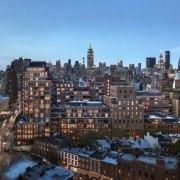 Jon Bon Jovi's new apartment in NYC – bird's eye view, building, city, cityscape, daytime, downtown, metropolis, metropolitan area, neighbourhood, residential area, sky, skyline, skyscraper, suburb, tower block, urban area, black, teal