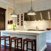 The kitchen is designed for entertaining cabinetry, countertop, cuisine classique, hardwood, interior design, kitchen, room, brown, gray