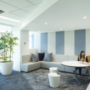 Stack Interiors designed the Z Energy office with ceiling, daylighting, interior design, living room, office, real estate, white