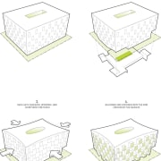 Plans for the building area, design, furniture, line, product, product design, table, white