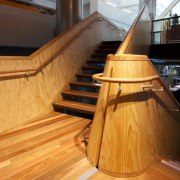ASB North Wharf floor by Hardwood Technology floor, flooring, hardwood, interior design, laminate flooring, stairs, wood, wood flooring, wood stain, orange, brown