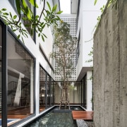 Another view of the open space within the architecture, building, condominium, courtyard, facade, house, property, real estate, residential area, gray, white
