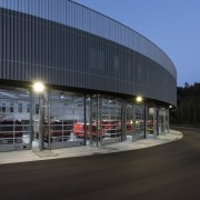 569 firestation building, corporate headquarters, mixed use, structure, black