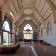 The main church space arcade, arch, building, ceiling, estate, interior design, place of worship, brown, gray