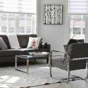Replacing a furniture suite is a good way chair, coffee table, couch, furniture, home, interior design, living room, loveseat, room, table, window, gray, white
