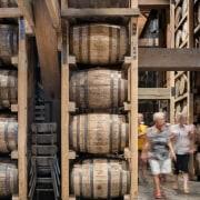 Barrel house wood, black, gray