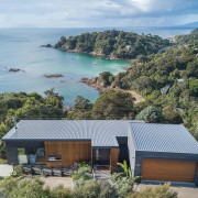 Little Barrier, the Coromandel and Great Barrier can bay, coast, cottage, estate, home, house, property, real estate, roof, gray