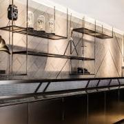 Hotel Ease interior design, white, black