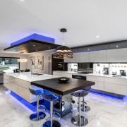 A focus on lighting – Kitchen by designer countertop, interior design, kitchen, property, real estate, gray