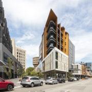 Newcastle Courthouse – Cox Architecture building, city, downtown, facade, metropolis, metropolitan area, mixed use, neighbourhood, sky, street, town, white